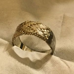 Jewelry - NWOT Sterling Silver 925 size 7 basket weave ring